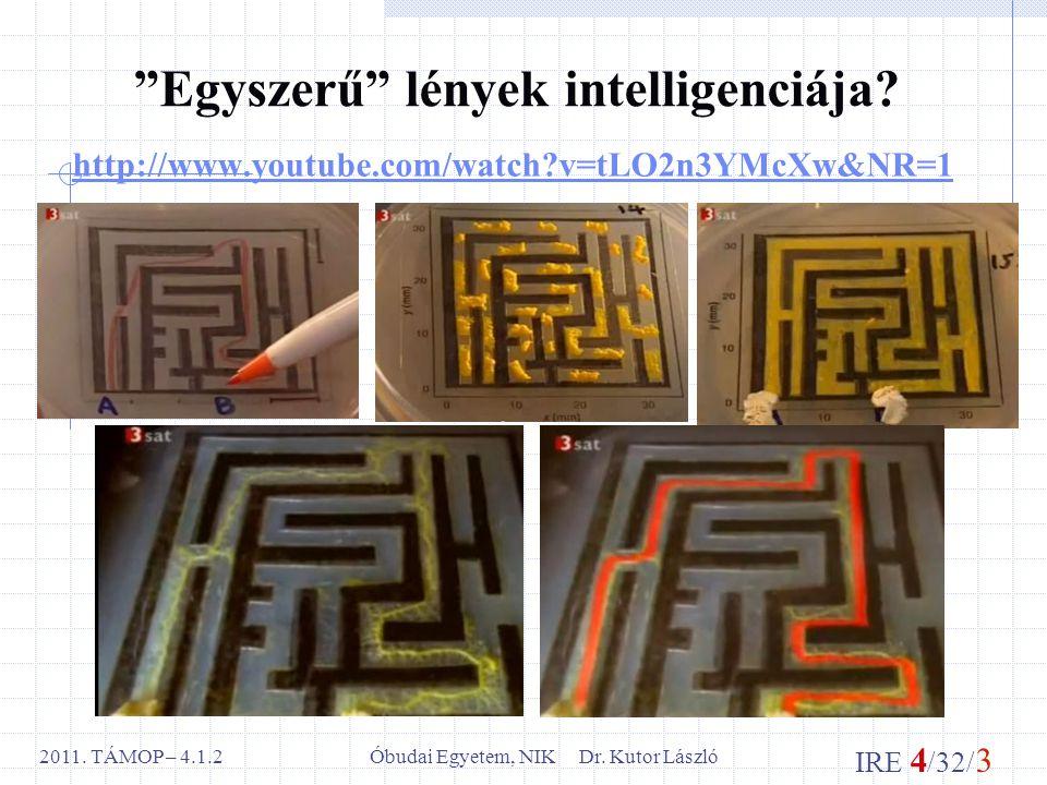 IRE 4 /32/ 3 Óbudai Egyetem, NIK Dr. Kutor László2011.