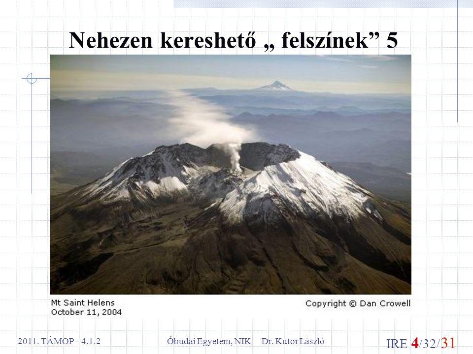 IRE 4 /32/ 31 Óbudai Egyetem, NIK Dr. Kutor László2011.