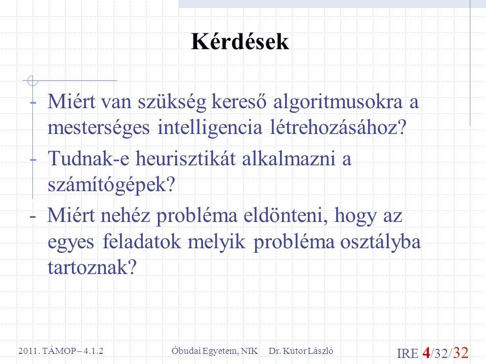 IRE 4 /32/ 32 Óbudai Egyetem, NIK Dr. Kutor László2011.