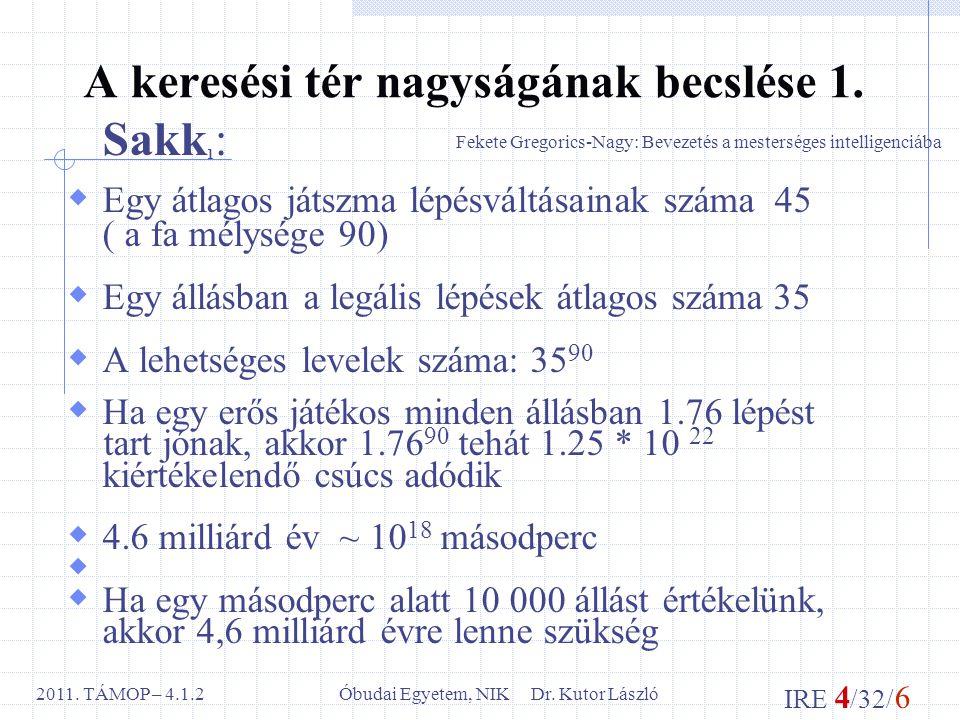IRE 4 /32/ 6 Óbudai Egyetem, NIK Dr. Kutor László2011.
