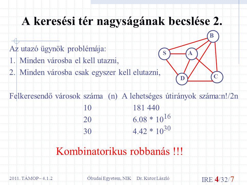 IRE 4 /32/ 7 Óbudai Egyetem, NIK Dr. Kutor László2011.