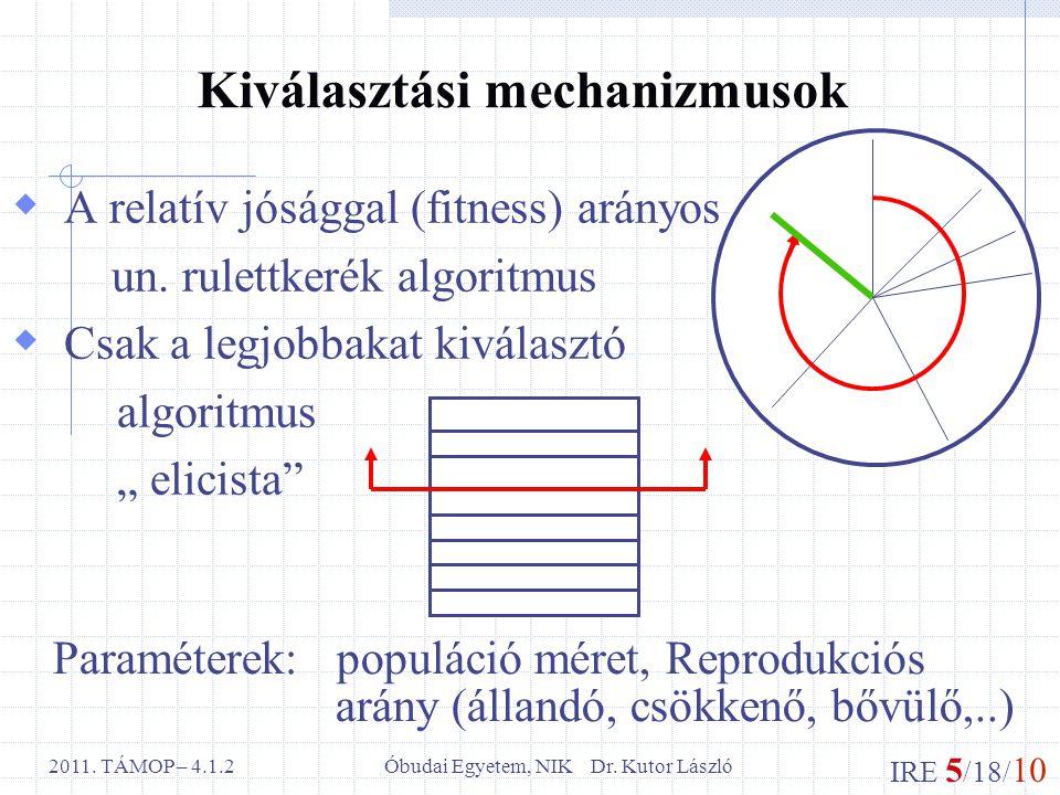 IRE 5 /18/ 10 Óbudai Egyetem, NIK Dr. Kutor László2011.