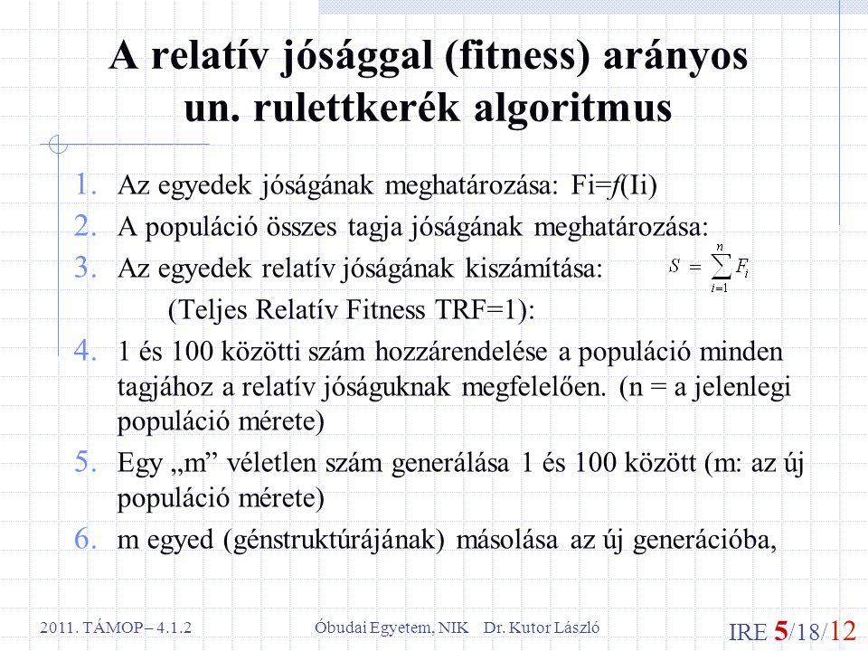 IRE 5 /18/ 12 Óbudai Egyetem, NIK Dr. Kutor László2011.