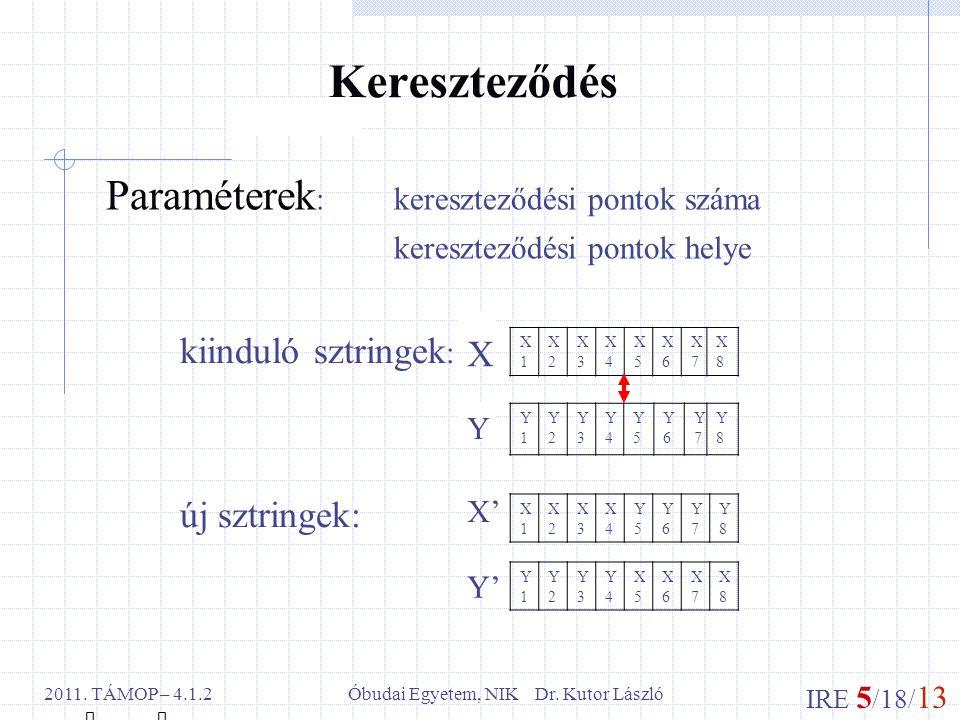 IRE 5 /18/ 13 Óbudai Egyetem, NIK Dr. Kutor László2011.
