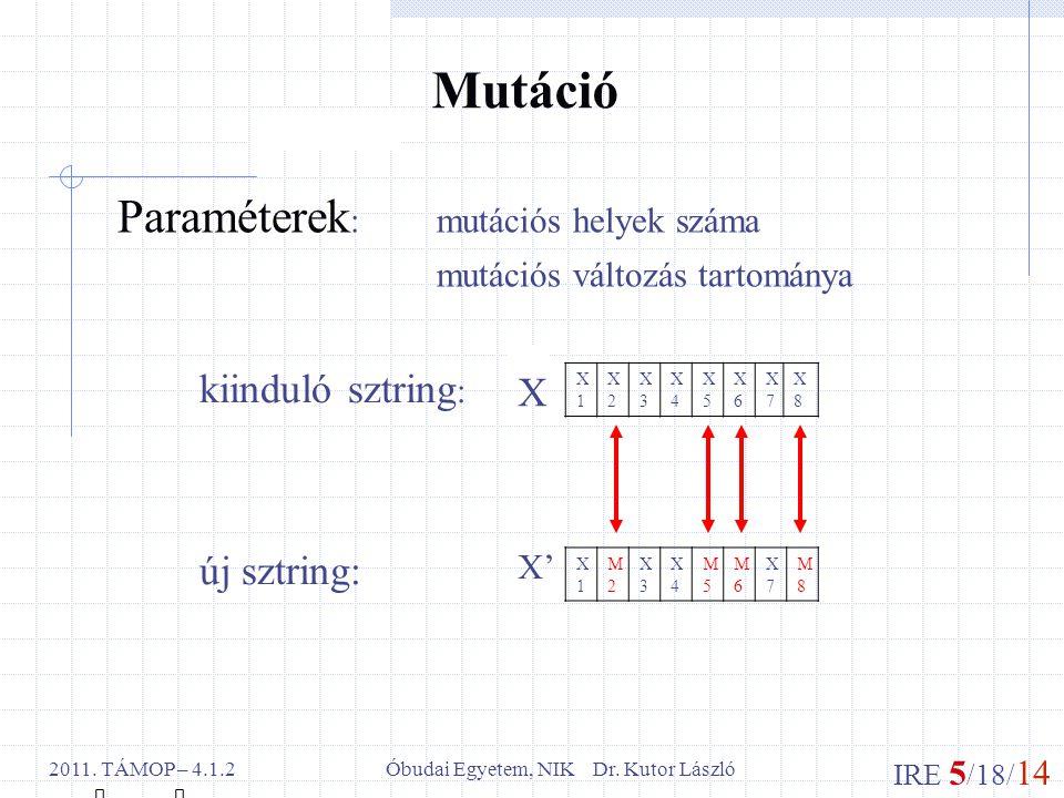IRE 5 /18/ 14 Óbudai Egyetem, NIK Dr. Kutor László2011.