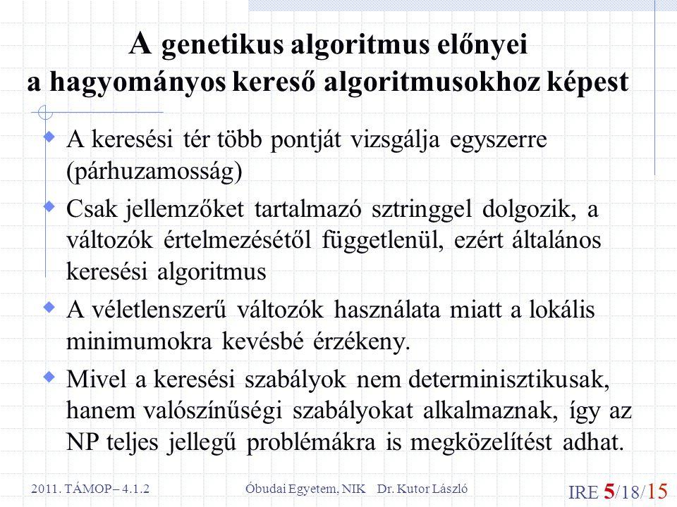 IRE 5 /18/ 15 Óbudai Egyetem, NIK Dr. Kutor László2011.