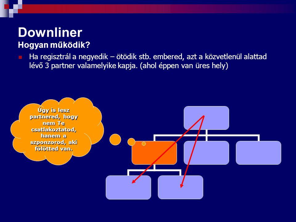 Downliner Hogyan működik.Ha regisztrál a negyedik – ötödik stb.