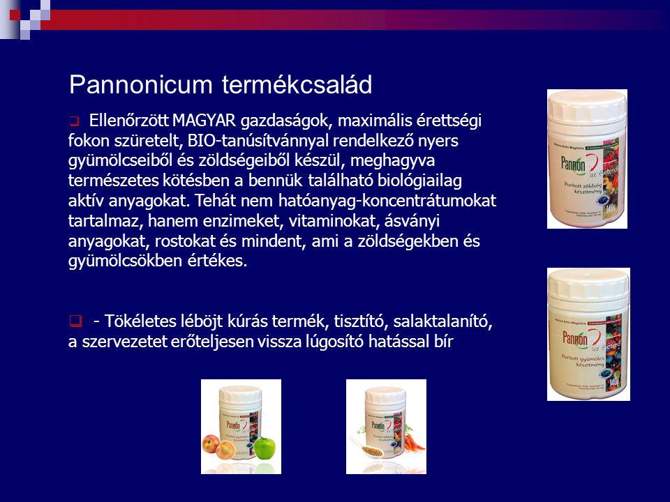 Pannonicum termékcsalád  Ellenőrzött MAGYAR gazdaságok, maximális érettségi fokon szüretelt, BIO-tanúsítvánnyal rendelkező nyers gyümölcseiből és zöl