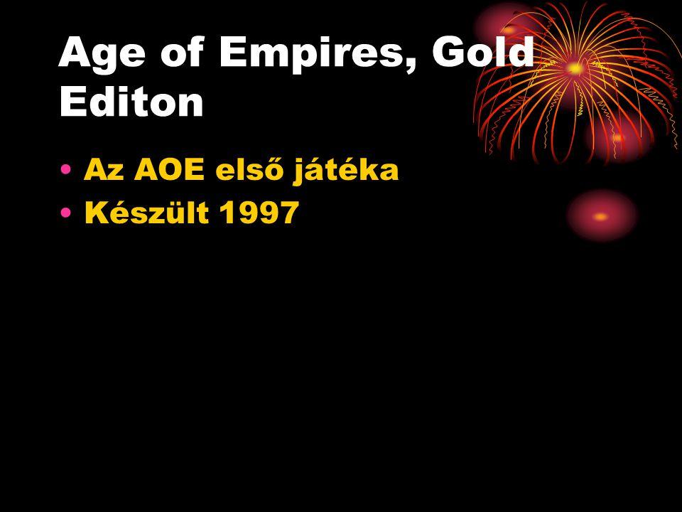 Age of Empires, Gold Editon Az AOE első játéka Készült 1997 Világhírű játék