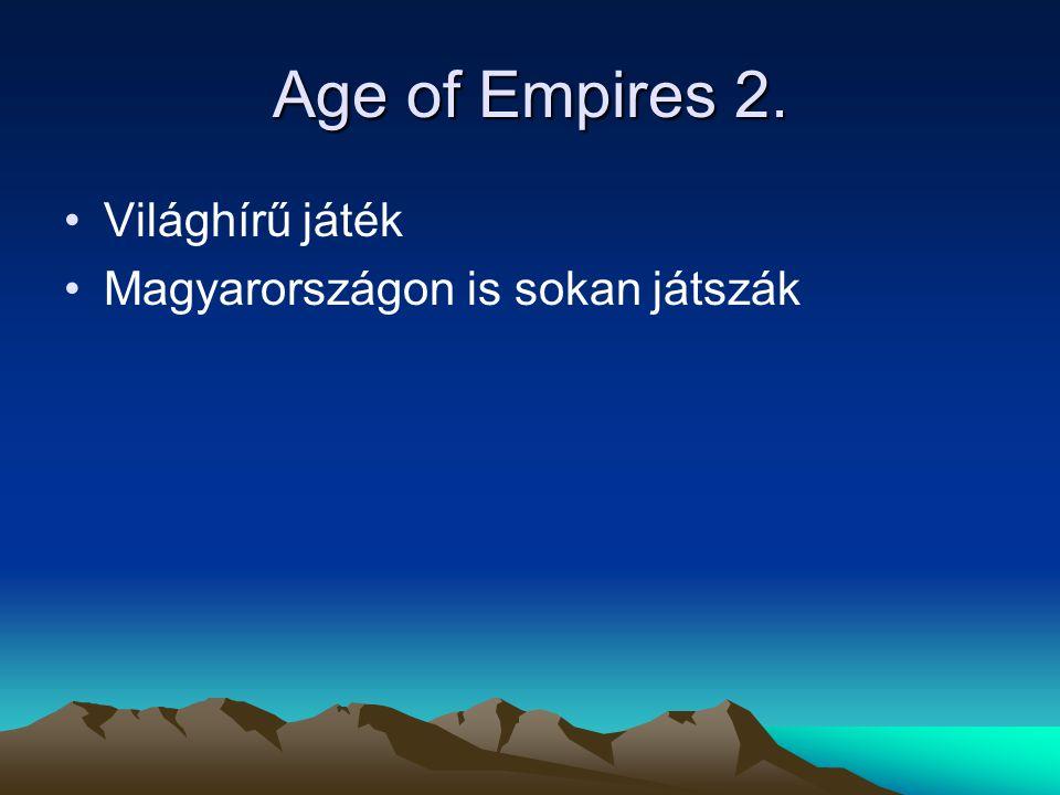 A legújabb AOE Neve:Age of Empires III. Neve:Age of Empires III.