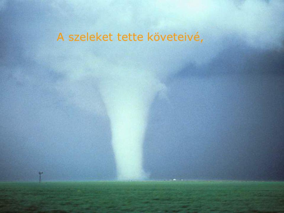 Palotáját a vizek fölé építette, a felhőket tette kocsijává, a szelek szárnyán jár.