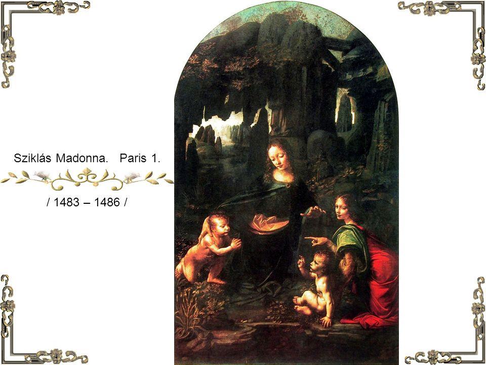 Sziklás Madonna London / 1503 – 1506 /