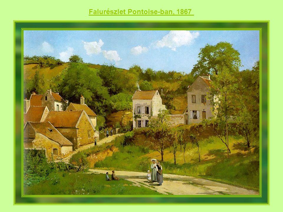 Falurészlet Pontoise-ban, 1867