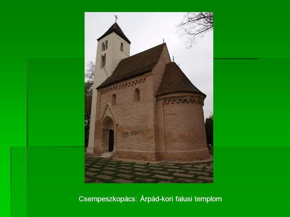 Csempeszkopács: Árpád-kori falusi templom