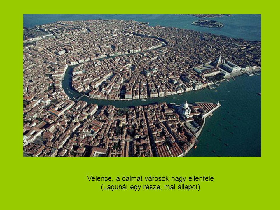 Velence, a dalmát városok nagy ellenfele (Lagunái egy része, mai állapot)