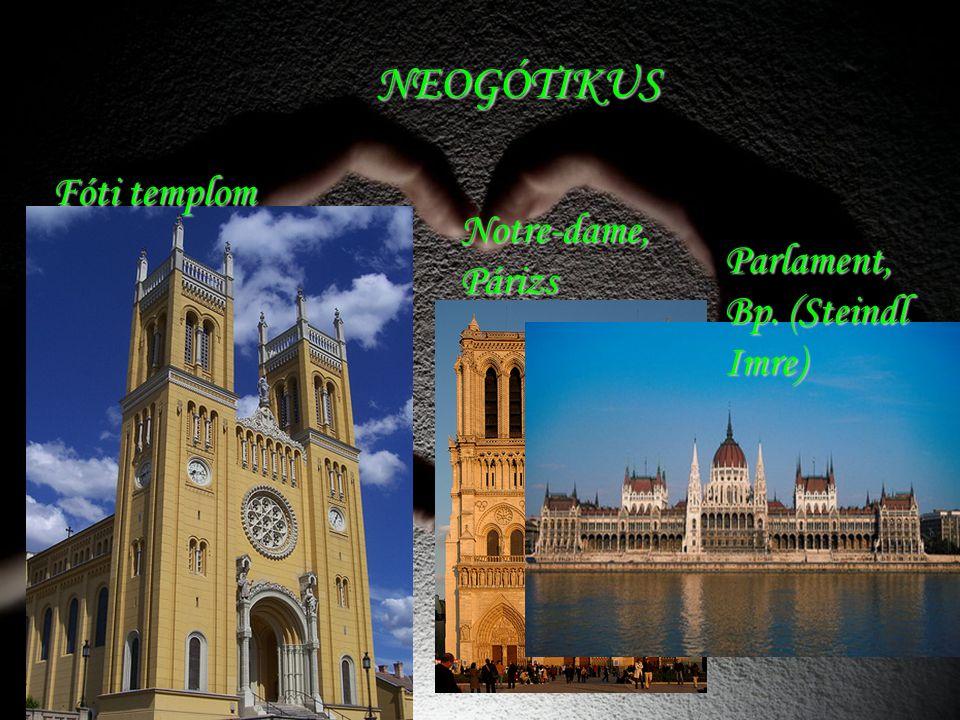 NEOGÓTIKUS Fóti templom Notre-dame, Párizs Parlament, Bp. (Steindl Imre)