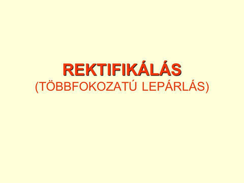 REKTIFIKÁLÁS REKTIFIKÁLÁS (TÖBBFOKOZATÚ LEPÁRLÁS)