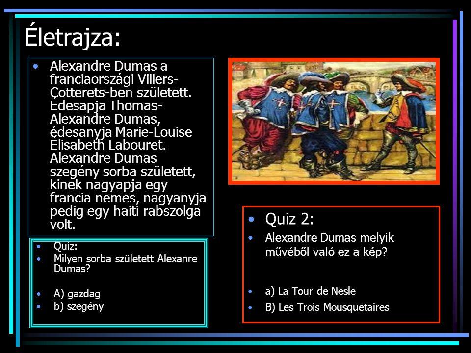 Életrajza: Quiz 2: Alexandre Dumas melyik művéből való ez a kép.