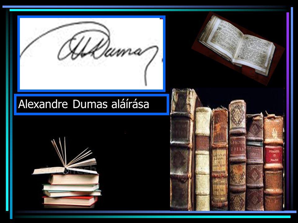 Alexandre Dumas aláírása