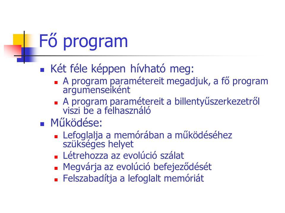 Fő program
