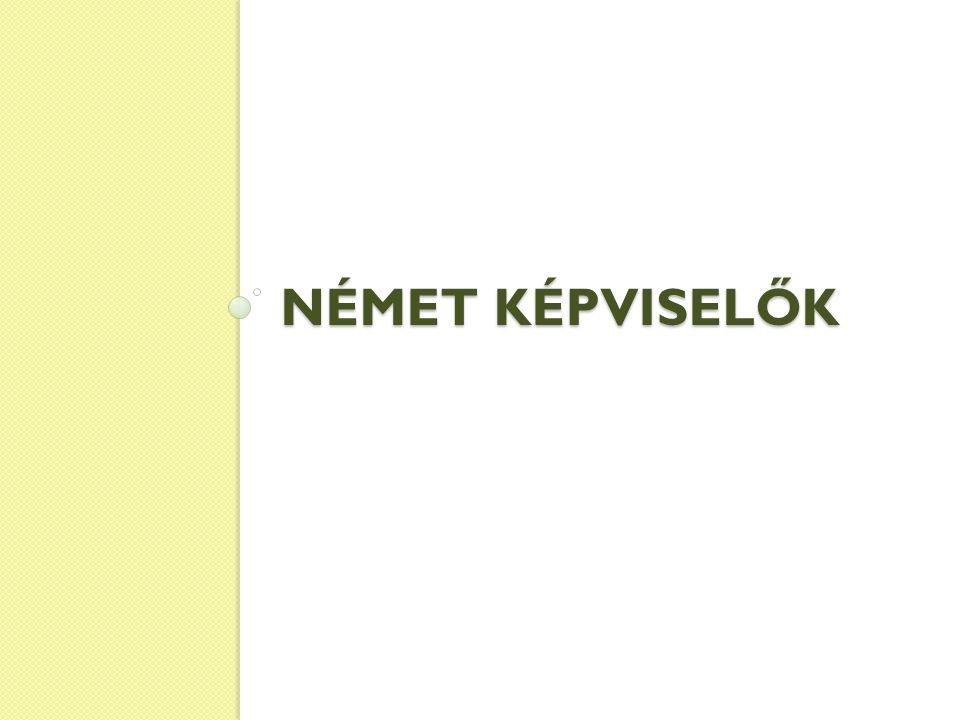 NÉMET KÉPVISELŐK