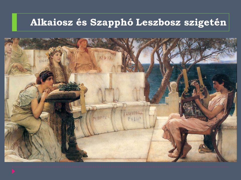 Alkaiosz és Szapphó Leszbosz szigetén