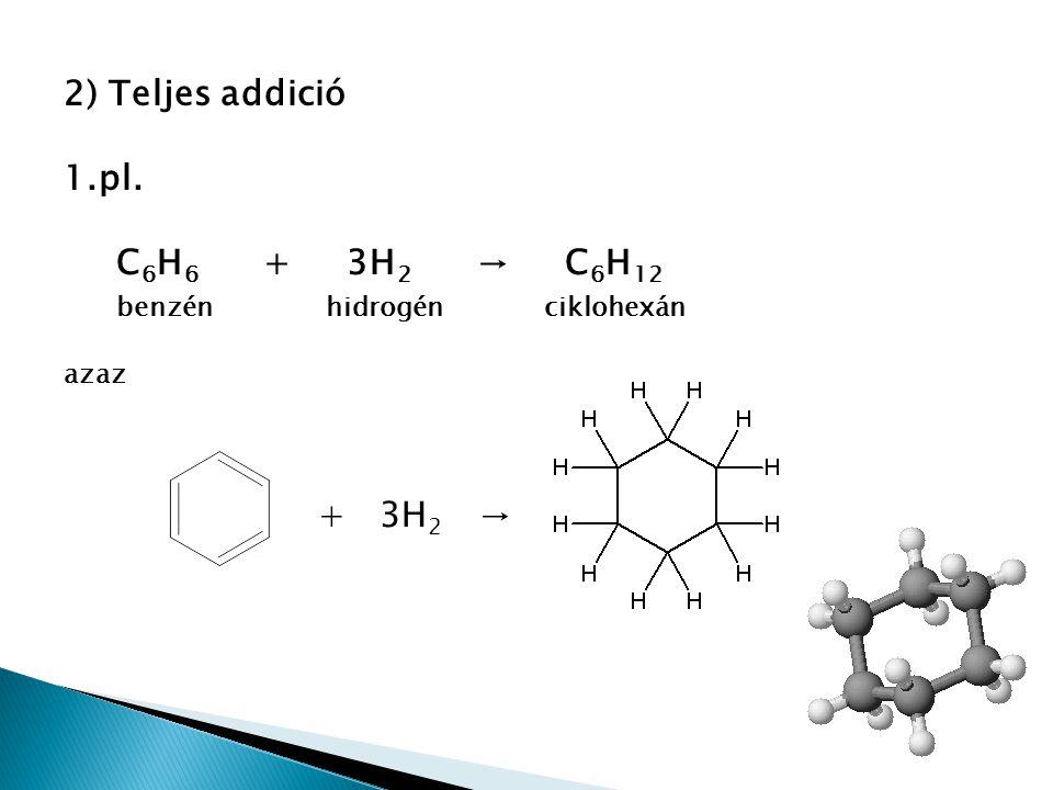 2.pl. + 3Cl 2 → hexaklór-ciklohexán
