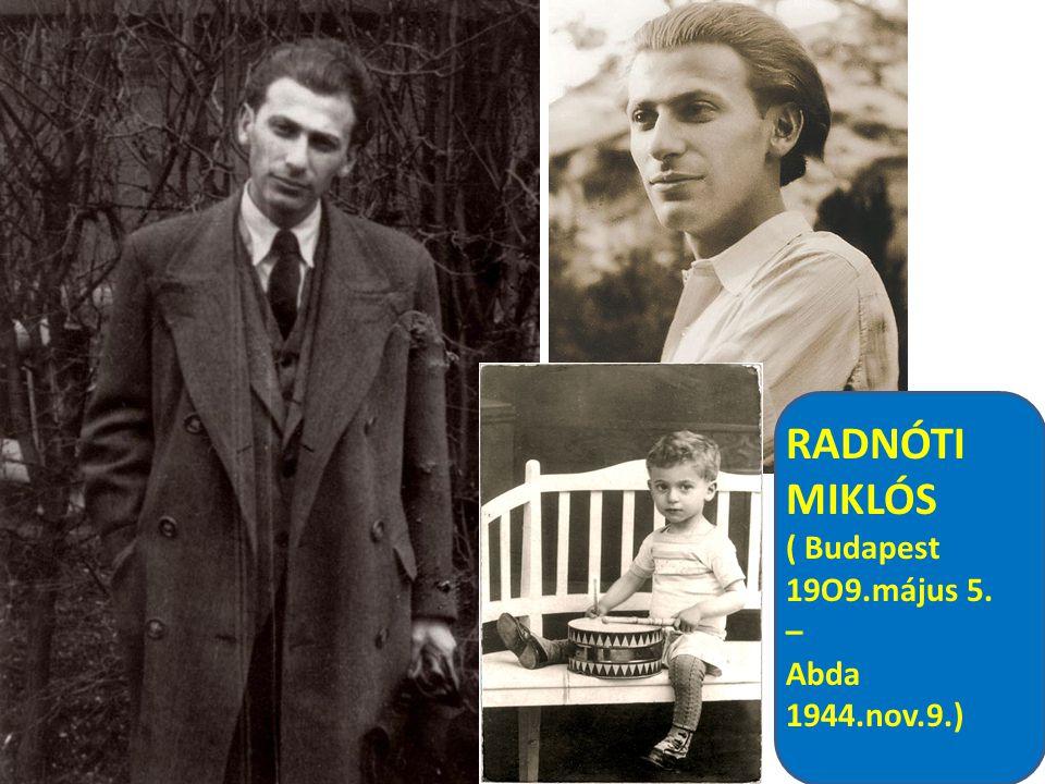 RADNÓTI MIKLÓS 1942 május 30.