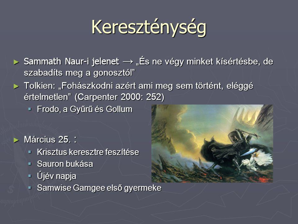 """Kereszténység ► Sammath Naur-i jelenet → """"És ne végy minket kísértésbe, de szabadíts meg a gonosztól"""" ► Tolkien: """"Fohászkodni azért ami meg sem történ"""