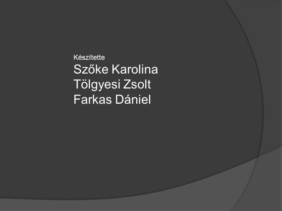 Készítette Szőke Karolina Tölgyesi Zsolt Farkas Dániel