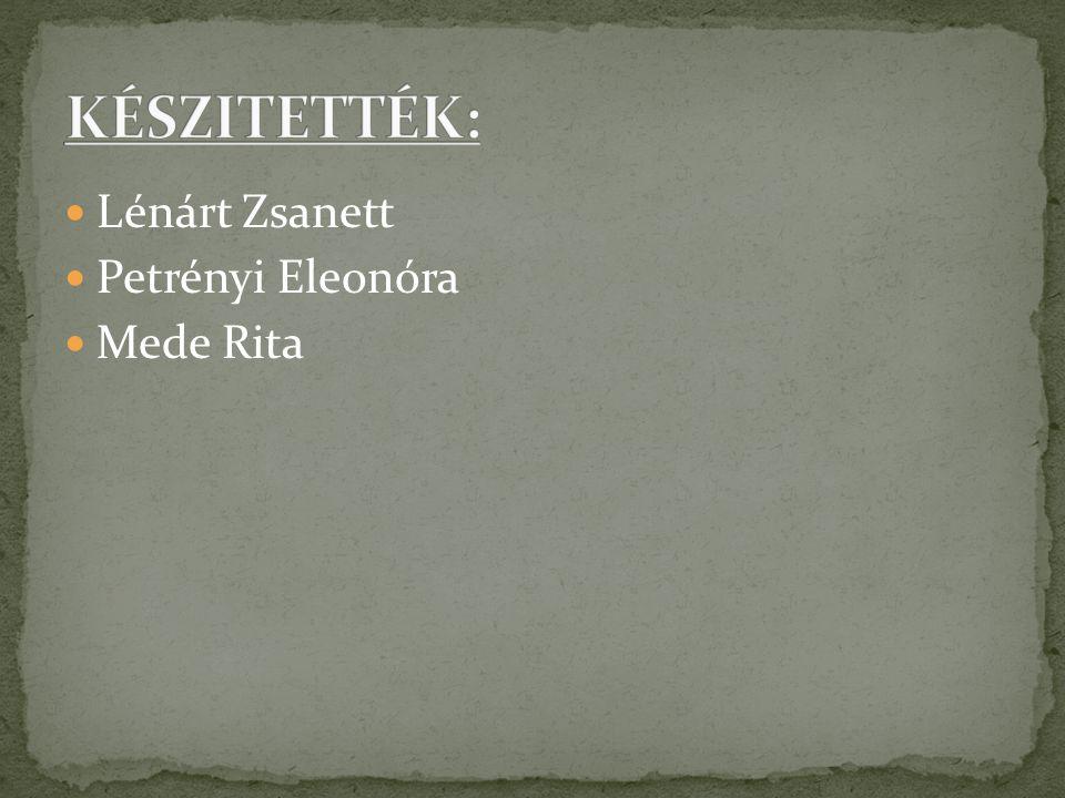 Lénárt Zsanett Petrényi Eleonóra Mede Rita
