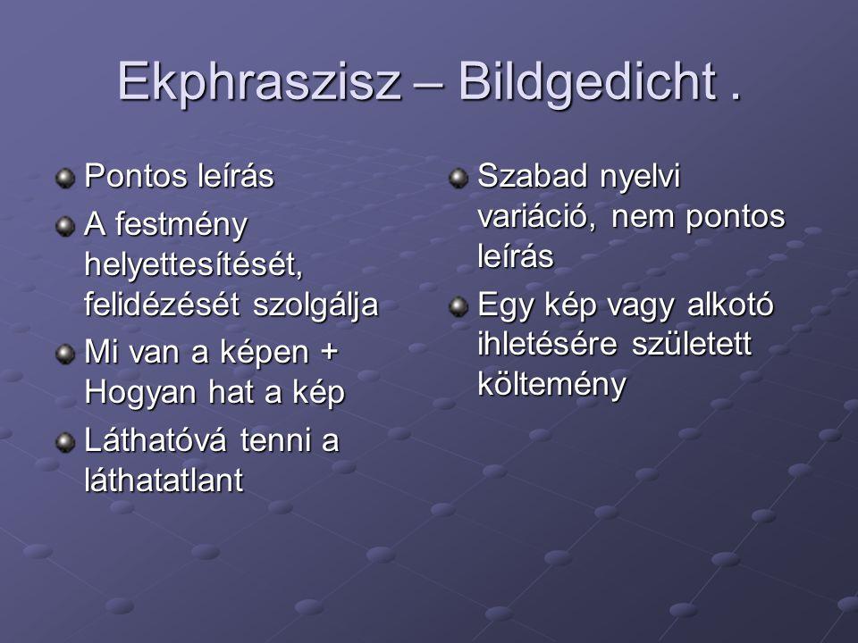 Ekphraszisz – Bildgedicht.