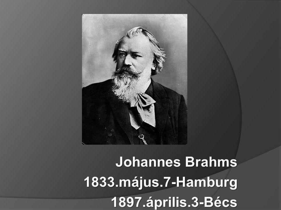 Johannes Brahms 1833.május.7-Hamburg 1897.április.3-Bécs
