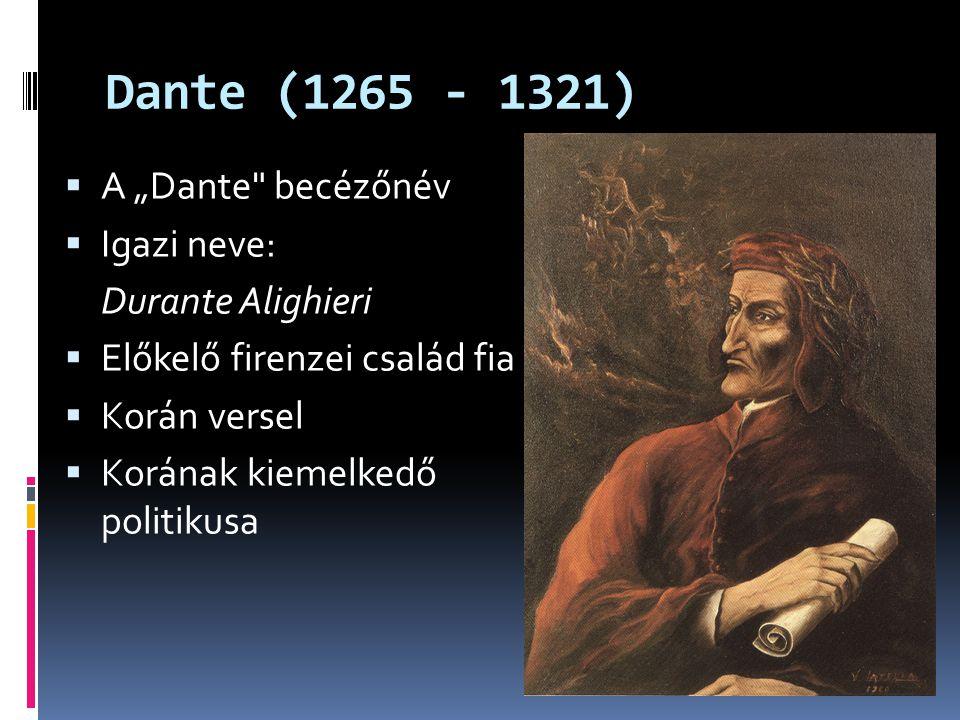 """Dante (1265 - 1321)  A """"Dante"""