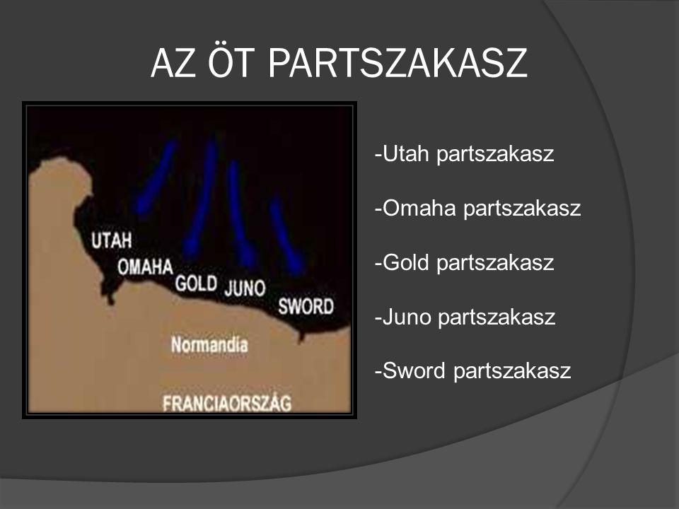 AZ ÖT PARTSZAKASZ -Utah partszakasz -Omaha partszakasz -Gold partszakasz -Juno partszakasz -Sword partszakasz