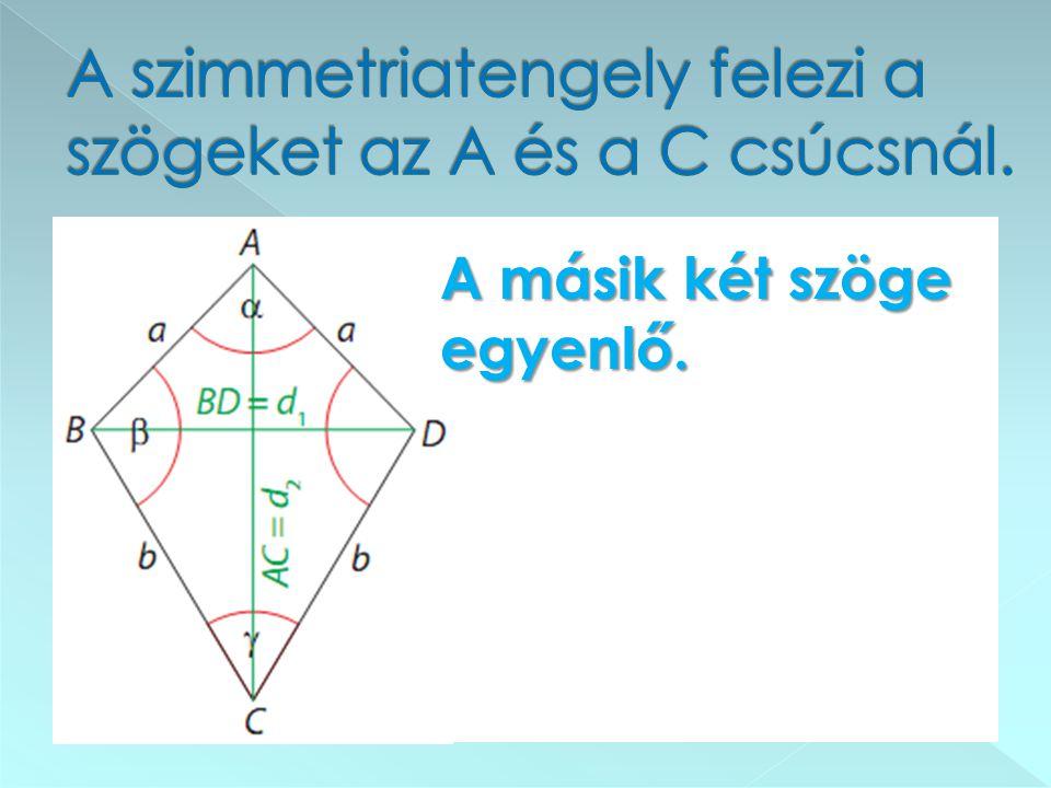 αα b b A négyzet és a rombusz is deltoid.