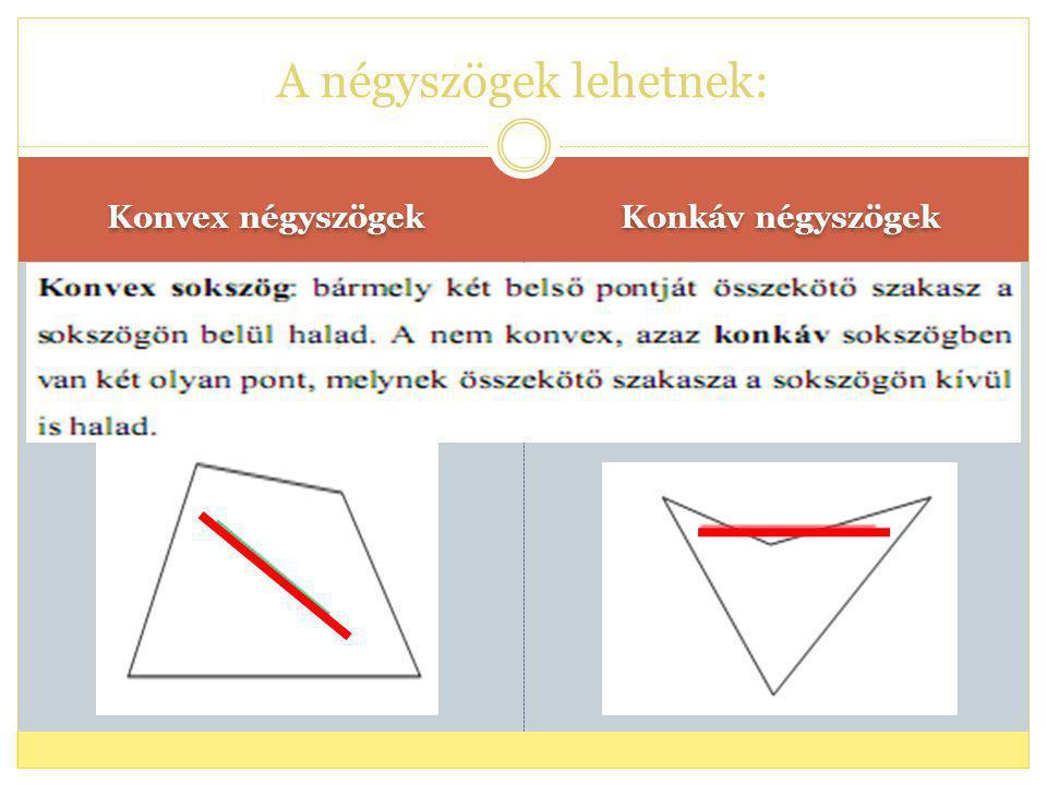 A négyszögek felosztása: I.