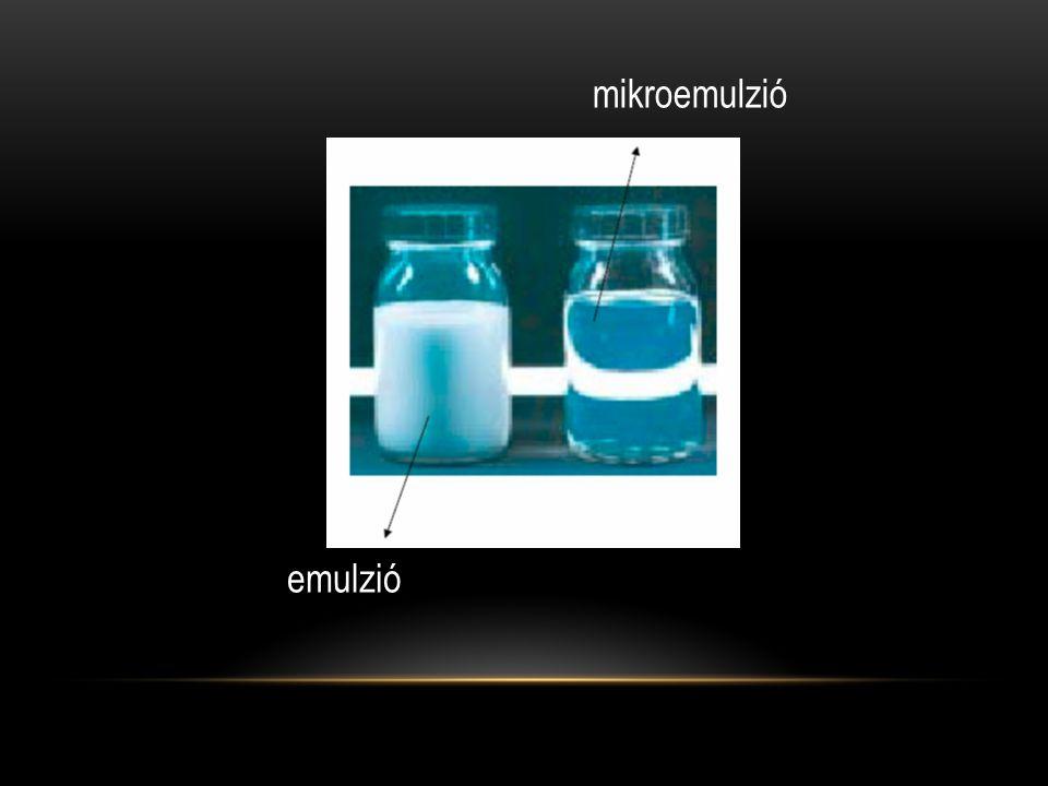 emulzió mikroemulzió