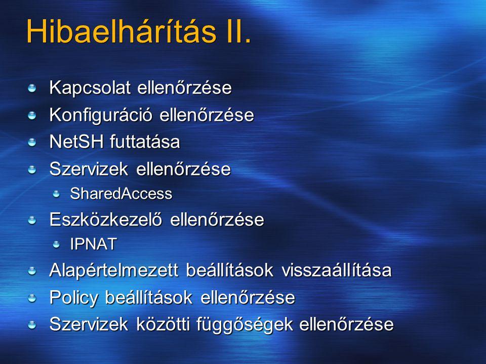 Hibaelhárítás II.