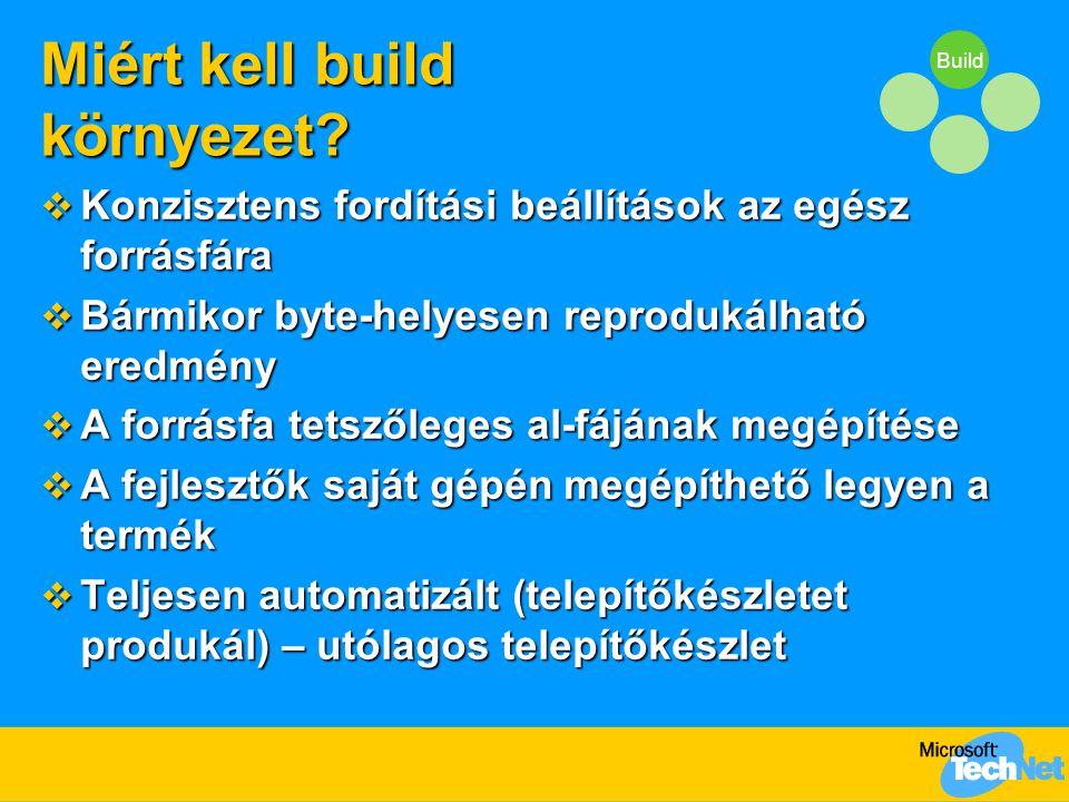 Build Miért kell build környezet.