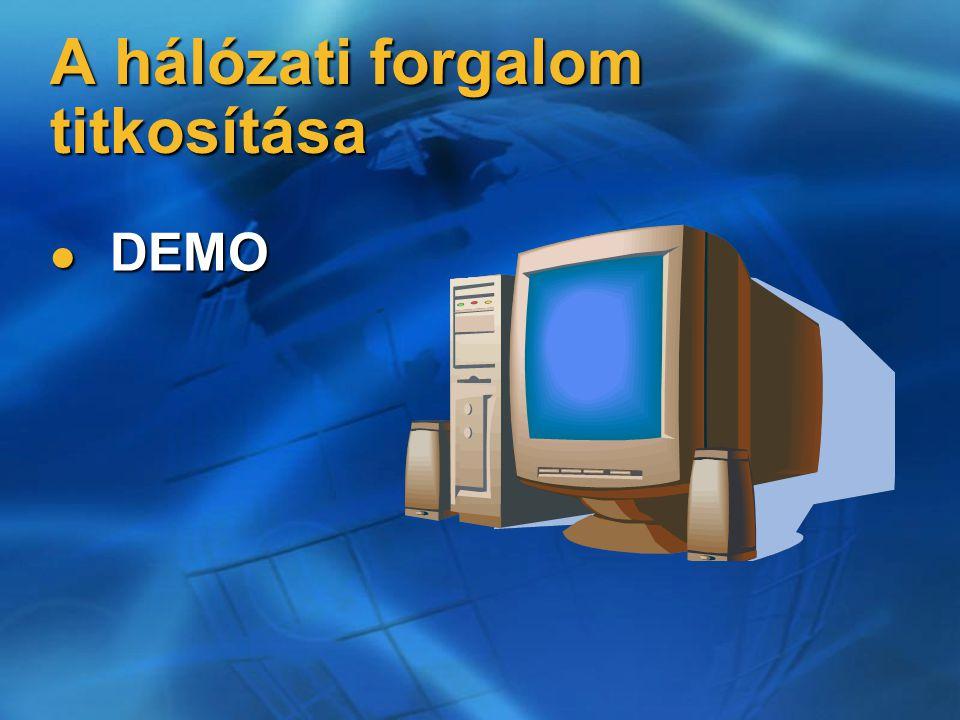 A hálózati forgalom titkosítása DEMO DEMO