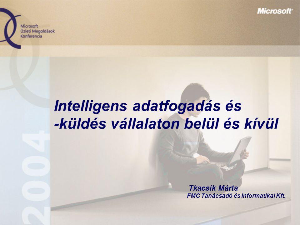Intelligens adatfogadás és -küldés vállalaton belül és kívül Tkacsik Márta FMC Tanácsadó és Informatikai Kft.