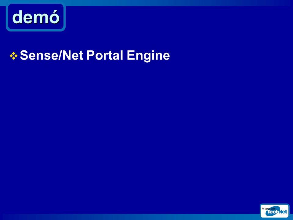 demó  Sense/Net Portal Engine