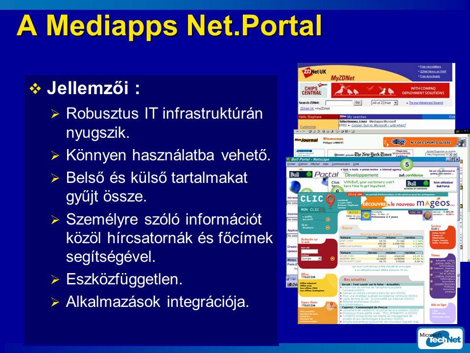  Jellemzői :  Robusztus IT infrastruktúrán nyugszik.