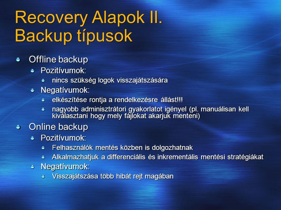 Recovery Alapok II.