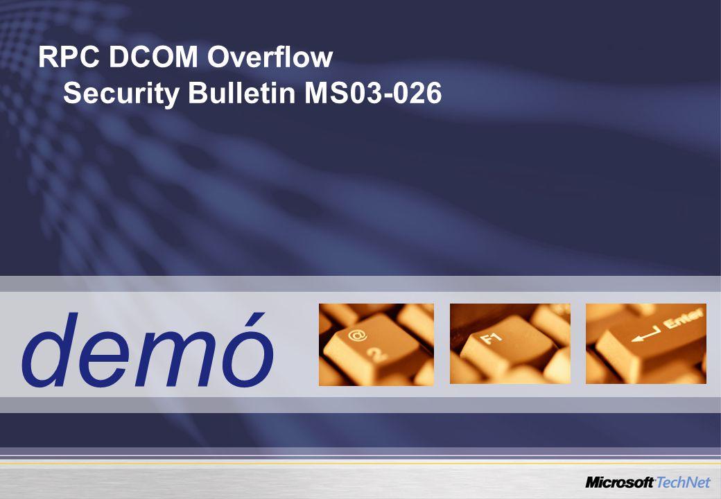 demó RPC DCOM Overflow Security Bulletin MS03-026