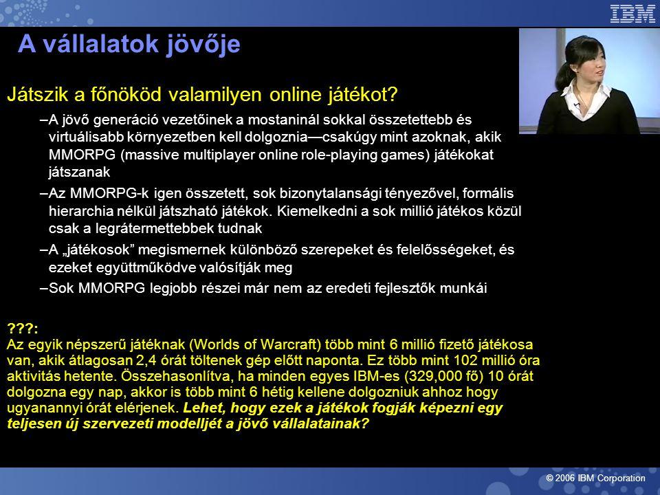 © 2006 IBM Corporation Játszik a főnököd valamilyen online játékot.