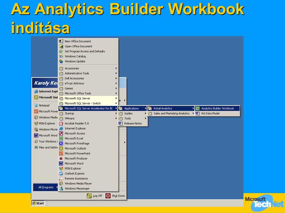 Az Analytics Builder Workbook indítása