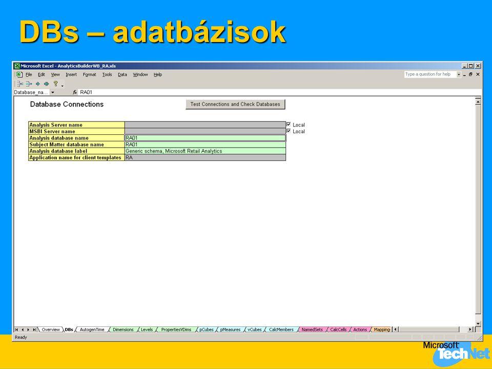 DBs – adatbázisok