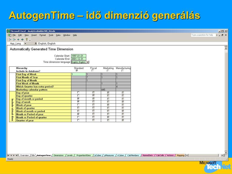 AutogenTime – idő dimenzió generálás